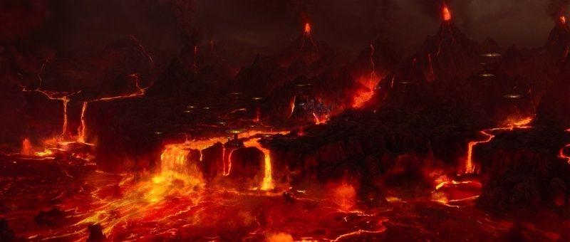 Quand l'Etna fait trembler Mustafar: une planète volcanique dans La revanche des Sith (Star Wars 3: Revenge of the Sith) Sw3-mu10