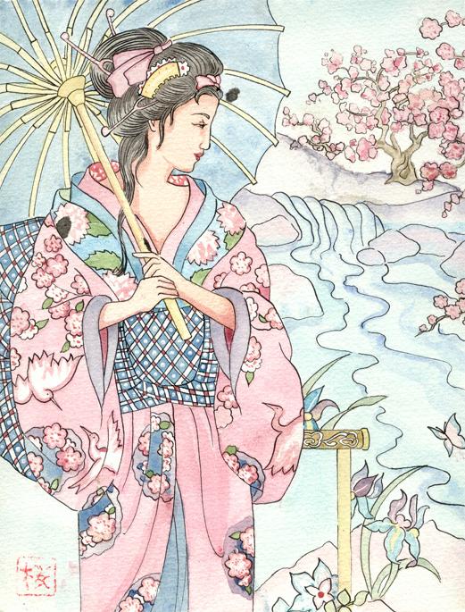 Femme en kimono Kimono10