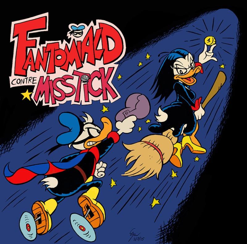 Dessins que je fais!  (univers BD de Mickey et Donald...) - Page 5 Fantom10