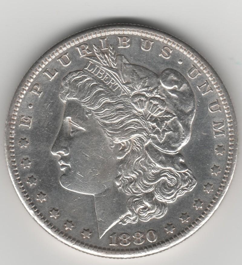 Estados Unidos. 1 Dollar Morgan. 1880 360_110