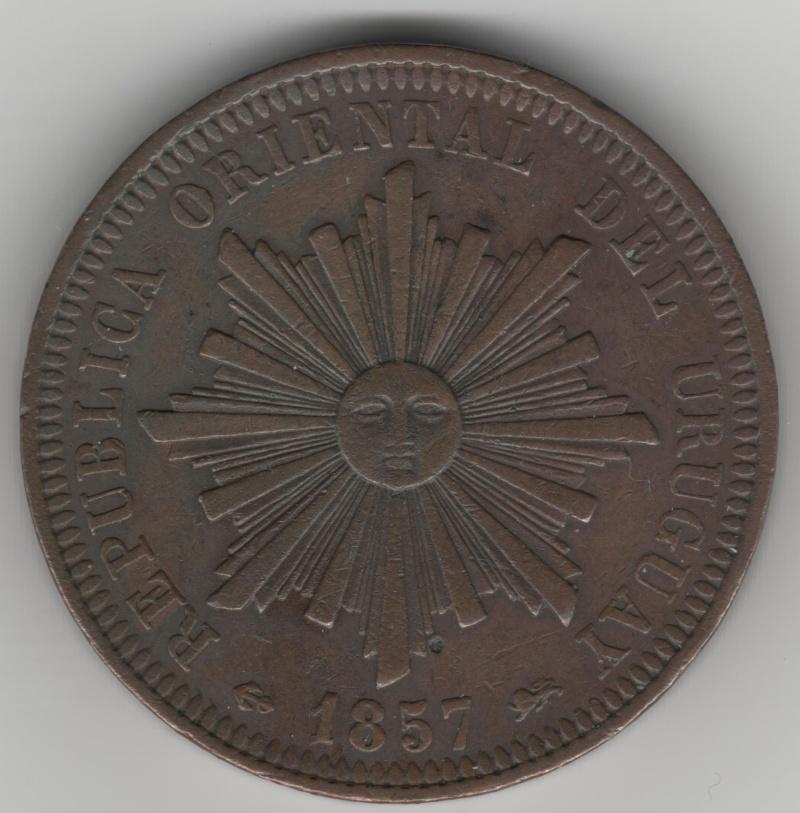 40 Centesimos de Real. Uruguay. 1857. Lyon 40_cen10