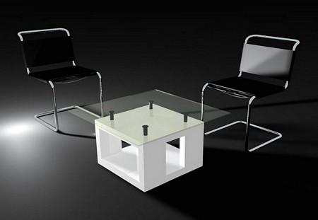 Table basse design en bois et verre Table-10