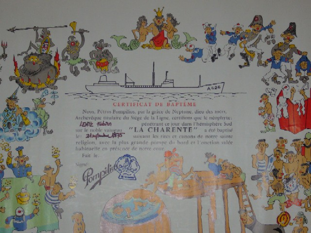 [ Les traditions dans la Marine ] LE PASSAGE DE LA LIGNE - ÉQUATEUR (Sujet unique) - Page 5 La_lig10