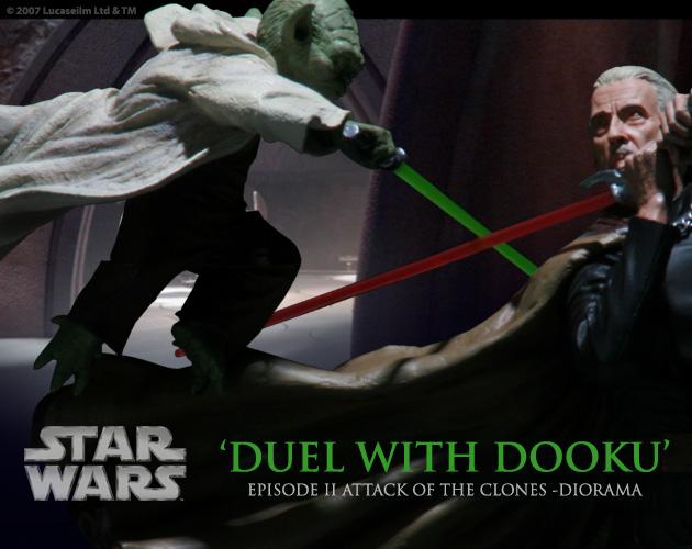 Diorama Yoda vs Count Dooku ! 10110710