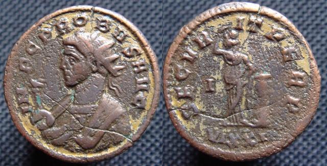 Dore - Denier de Tibère doré Antoni13