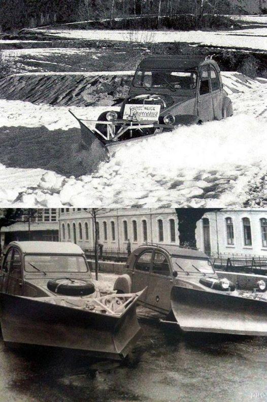 2CV SAHARA chasse-neige en brocante 40585510