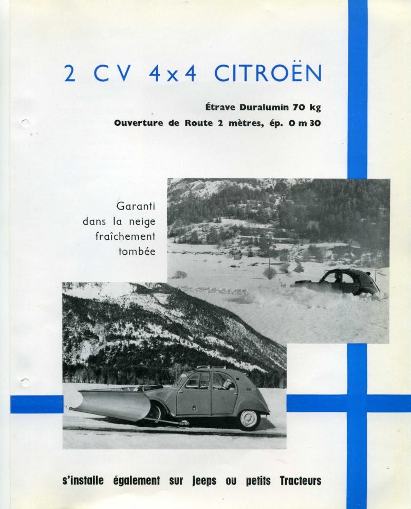 2CV SAHARA chasse-neige en brocante Chasse10
