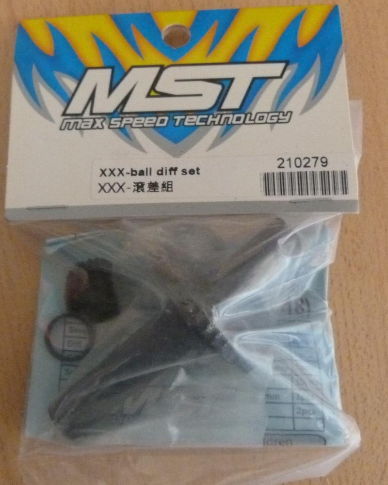VEND diff a billes pour MST a cardan central et planches de decalcomanie autocollant Mst110