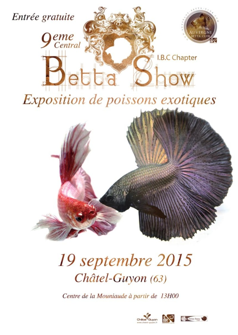 Auvergne Betta Club (ABC) show betta chapter IBC 2015 Affich10