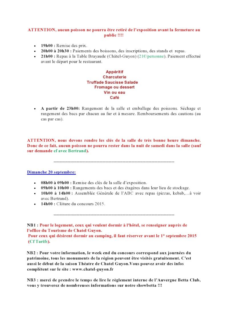 Auvergne Betta Club (ABC) show betta chapter IBC 2015 Progra11