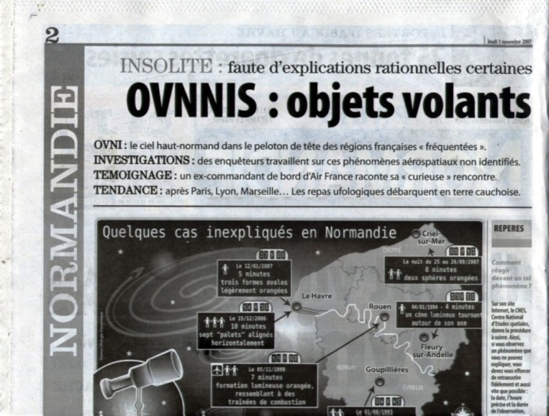 article sur les OVNIs de la presse normande , paris normandi Page_110