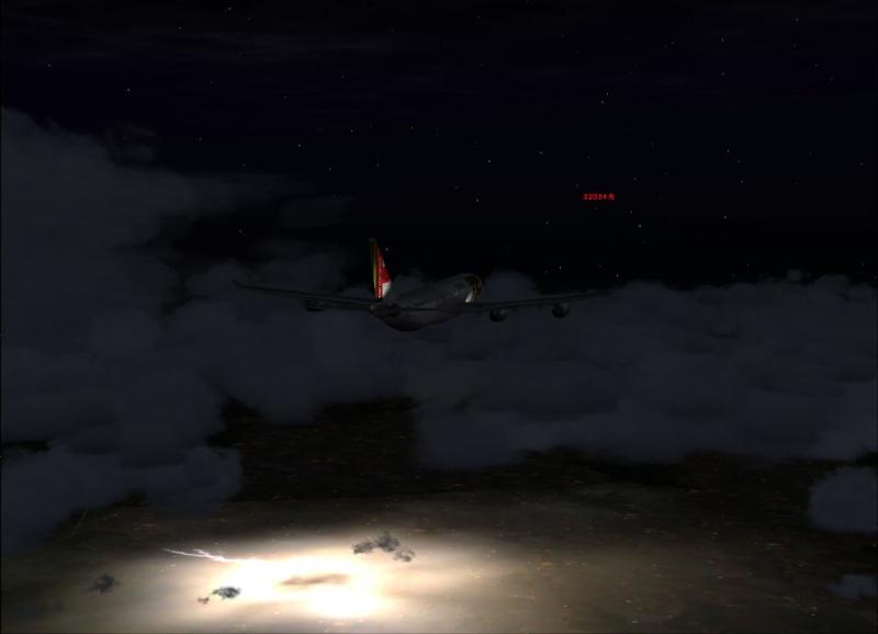A340-300 numa tempestade Kafly110