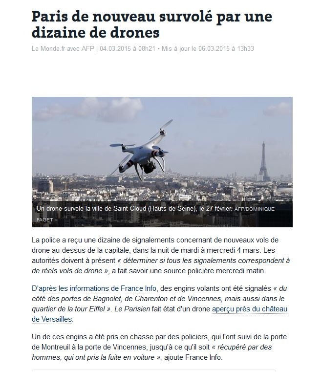 mission surveillance de Paris et interception du trafic Articl11
