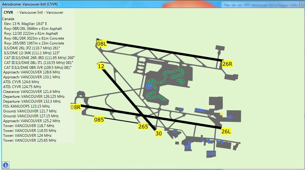 vol liner aux instruments CYVR - KMFR Vancou13