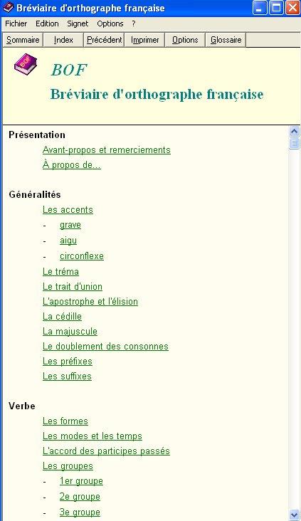 Bréviaire d'Orthographe Française : BOF Bof_110