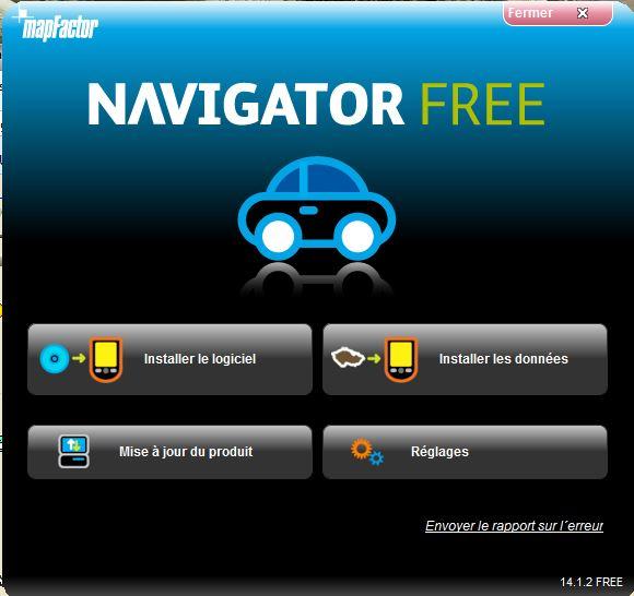 NavigatorFree / MapFactor / PC Navigator Captur35
