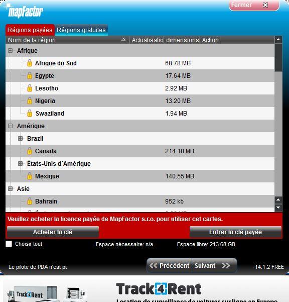 NavigatorFree / MapFactor / PC Navigator Captur38