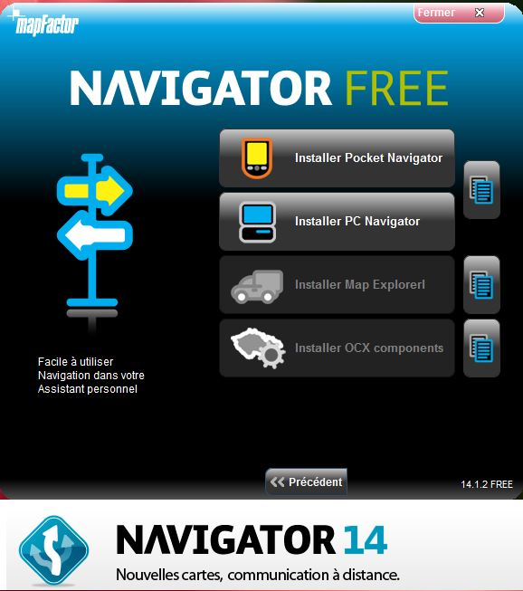 NavigatorFree / MapFactor / PC Navigator Instal11