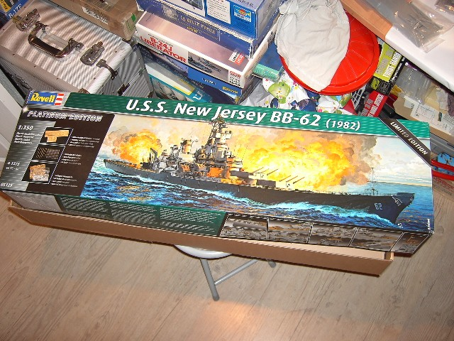 U.S.S New Jersey BB-62 1/350 REVELL limited edition Vente_10