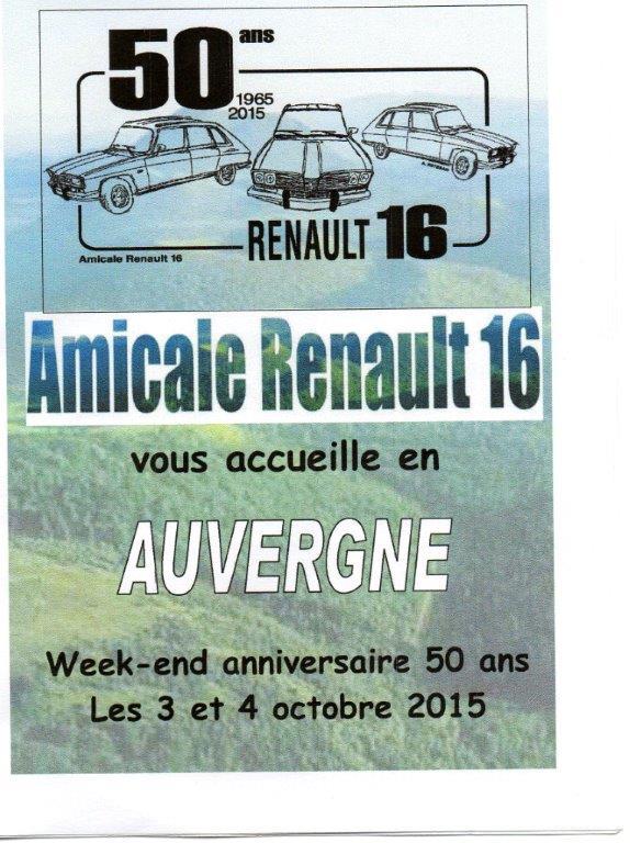 Les 50 ans de la Renault 16 en Auvergne 3 et 4 octobre 2015 Img25110
