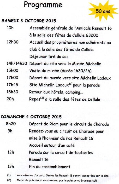 Les 50 ans de la Renault 16 en Auvergne 3 et 4 octobre 2015 Img25210