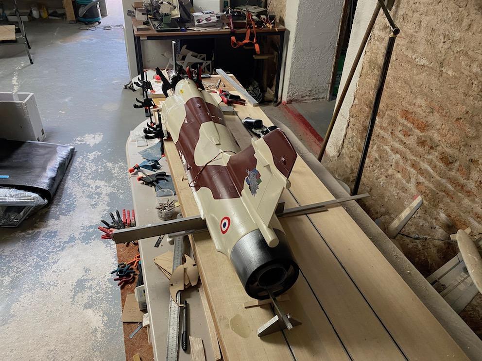 avion - Reconstruction d'un avion en Airex Img_2316