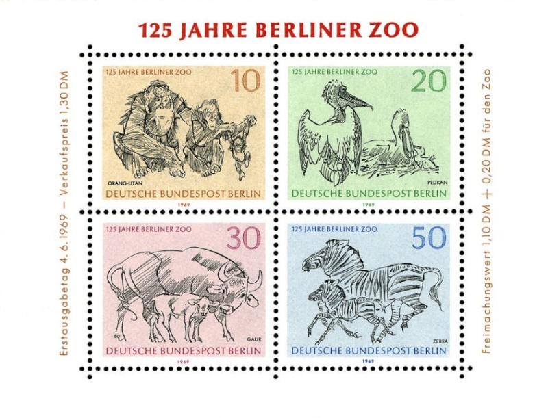 Briefmarkenblocks der Deutschen Bundespost Berlin Bild614