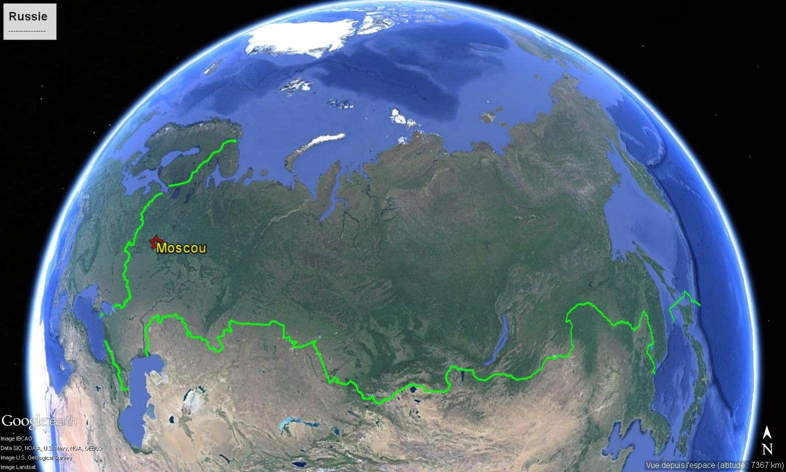 Les frontières de la Russie Russie10