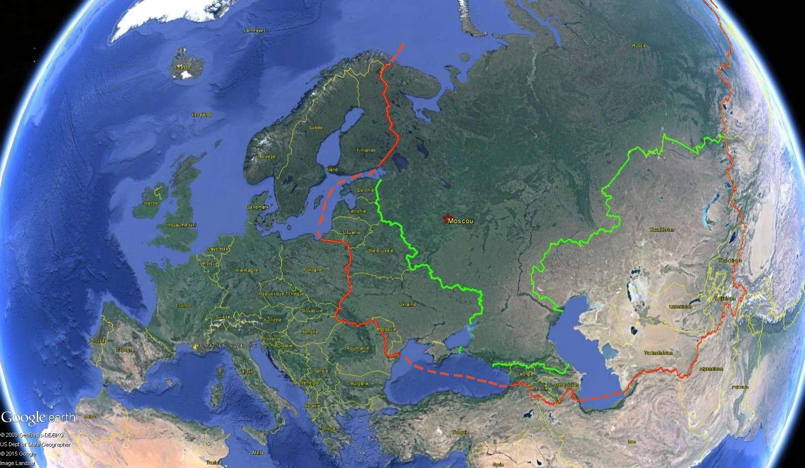 Les frontières de la Russie Urss1010