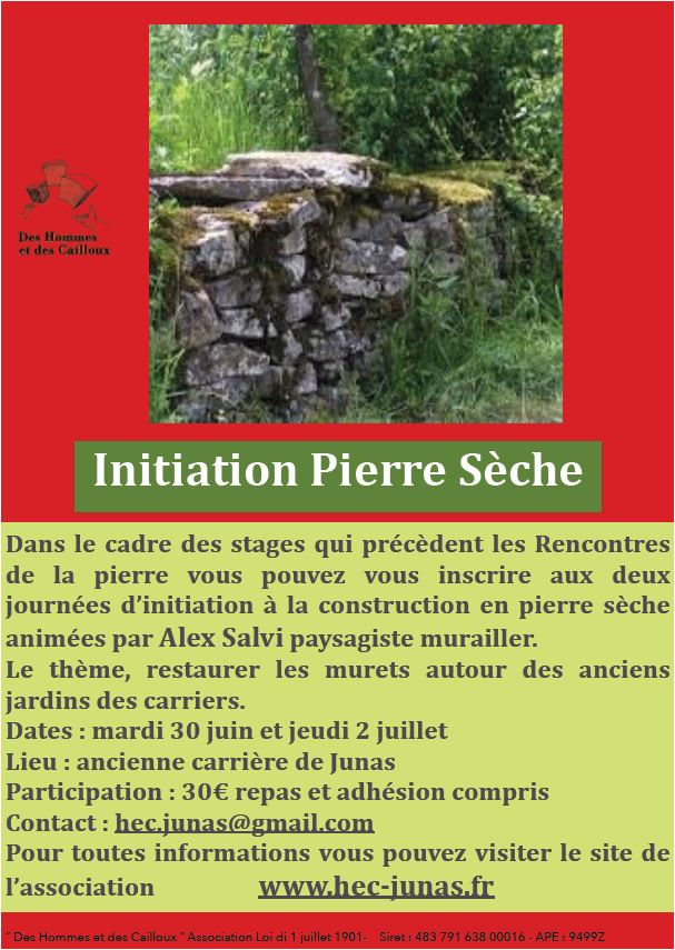 stage d'initiation Pierre sêche Pierre10