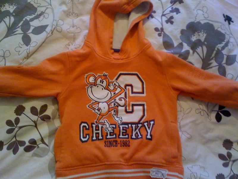 Orange monkey jumper 2-3 yrs Jan_2014