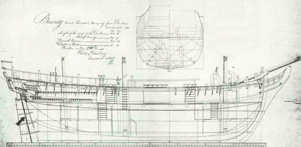 H.M.S Bounty Billing boats 1/50 Plan-o10