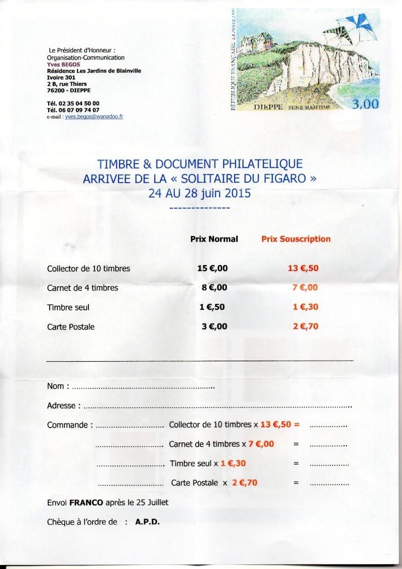 76 - Dieppe - Association Philatélique -Solitaire du Figaro  Img11410