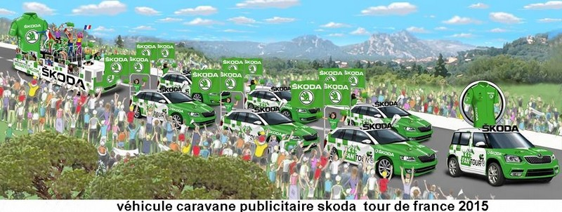 CARAVANE PUBLICITAIRE SKODA FANTOUR 2015 11393211