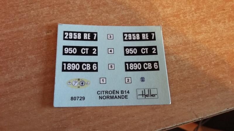 CITROËN B 14 NORMANDE 1/24ème Réf 80729 00810