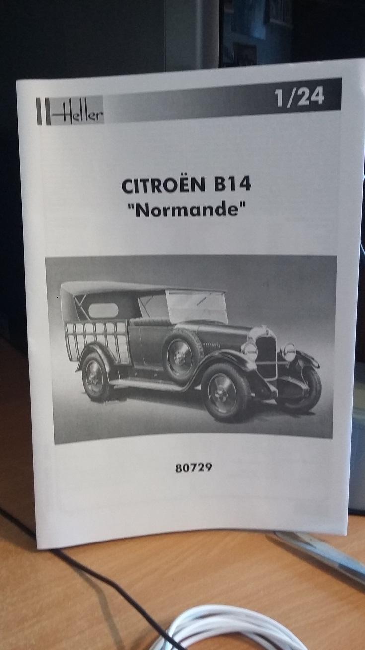 CITROËN B 14 NORMANDE 1/24ème Réf 80729 00910