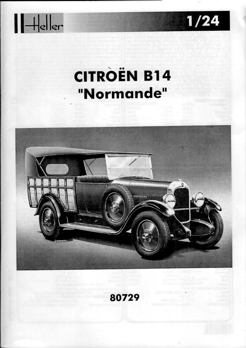 Citroën B-14 Normande au 1/24° Notice10