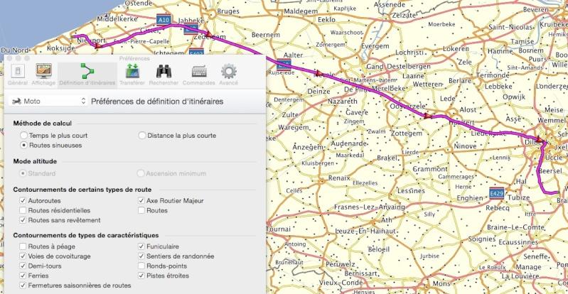 Mode de calcul de l'itinéraire Captur58