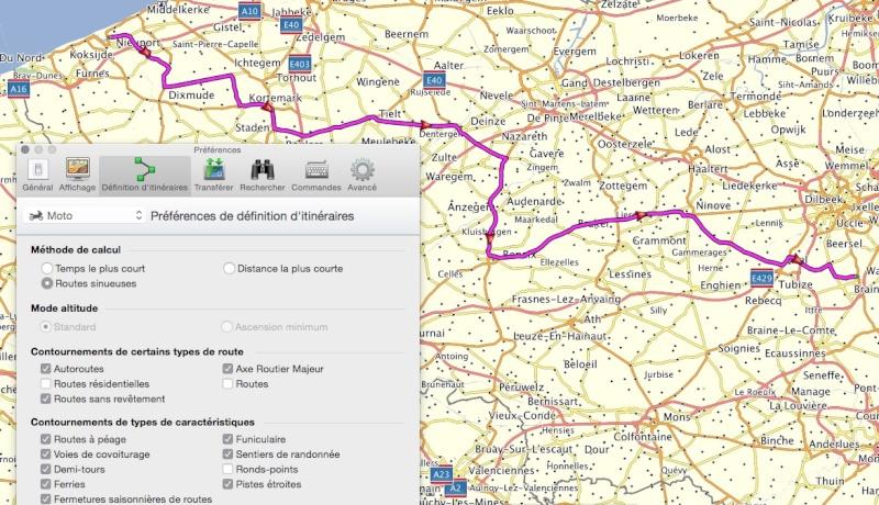 Mode de calcul de l'itinéraire Captur59