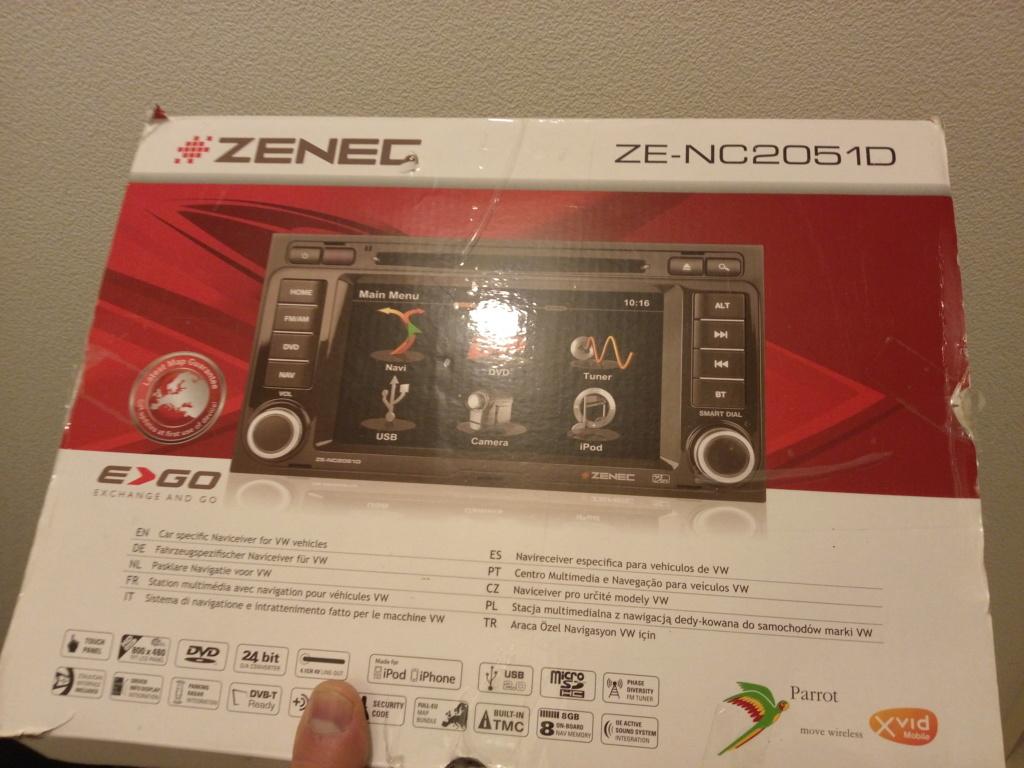 Autoradio GPS ZENEC ZE-NC2051D  Imag1410