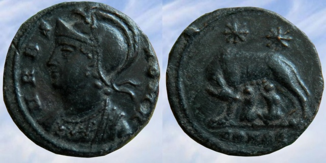 Nummus à la louve Roma Urbs10