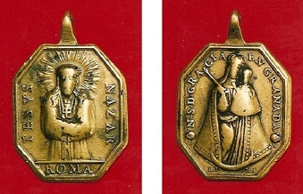 Médaille Jésus de Nazareth - XVIIIème 3n_s_d10