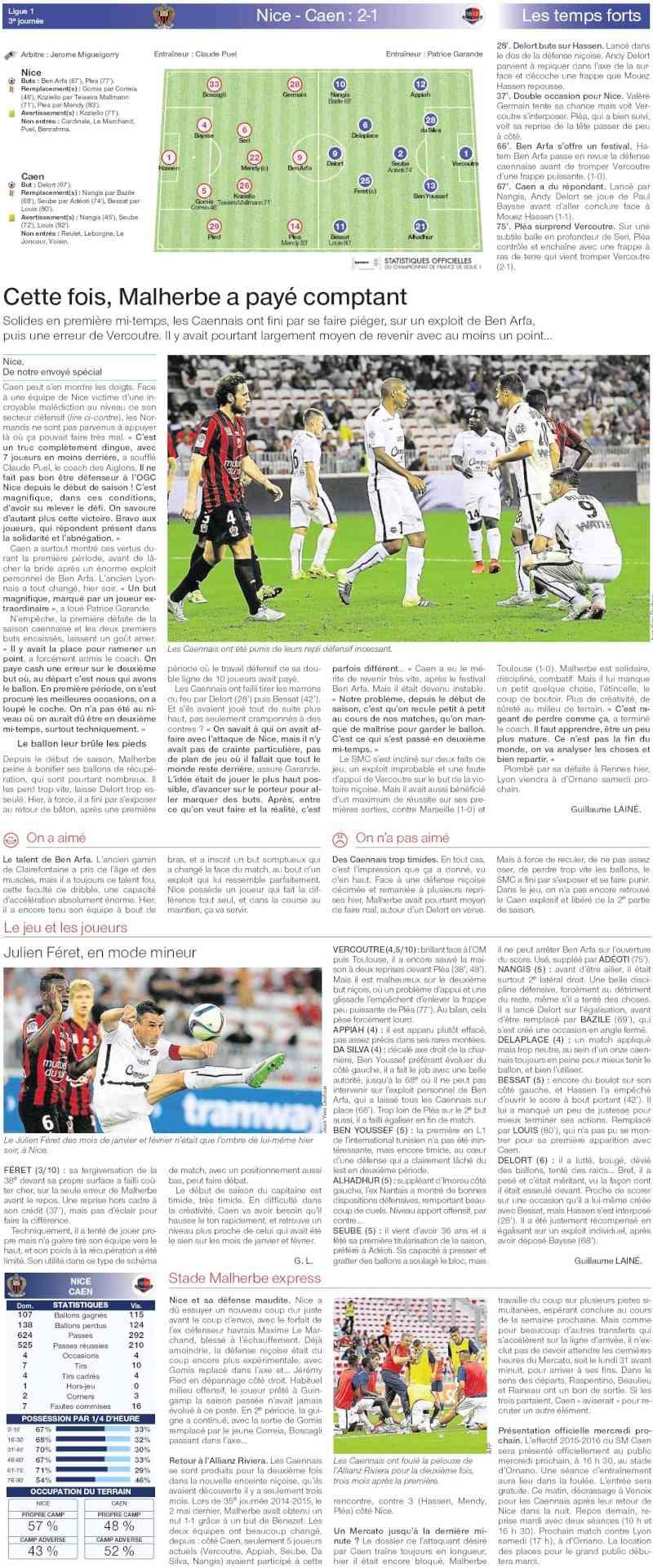 [3e journée de L1] OGC Nice 2-1 SM Caen  - Page 4 20150816