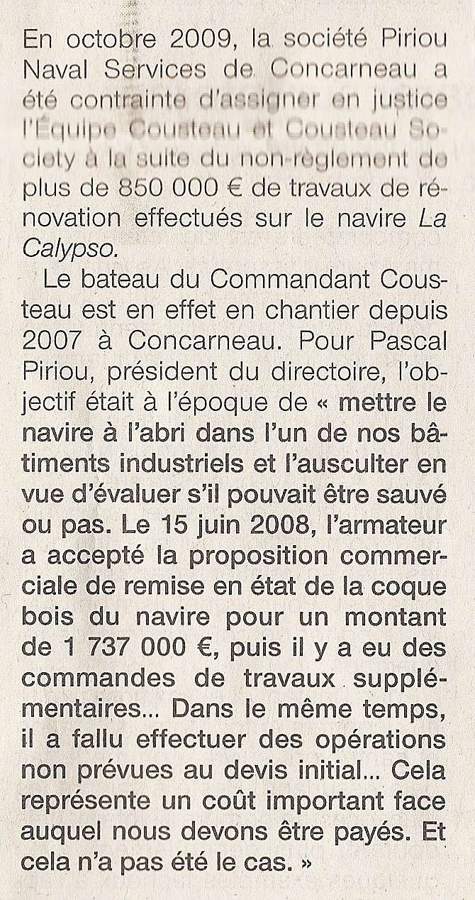 [AUTRES SUJETS DIVERS] LA CALYPSO - Page 11 Numari53