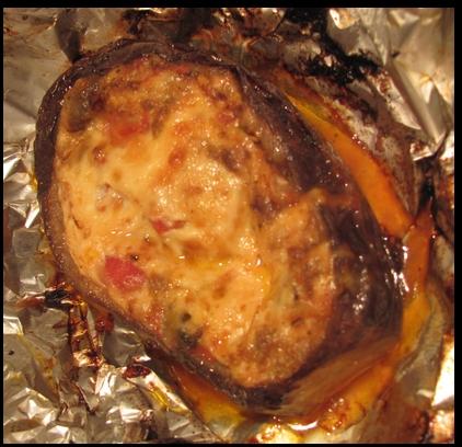 Aubergine farcie sur BBQ . Auberg15