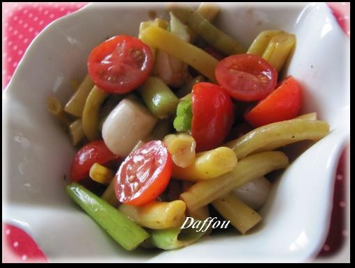Salade de haricots verts / jaunes . Salade14