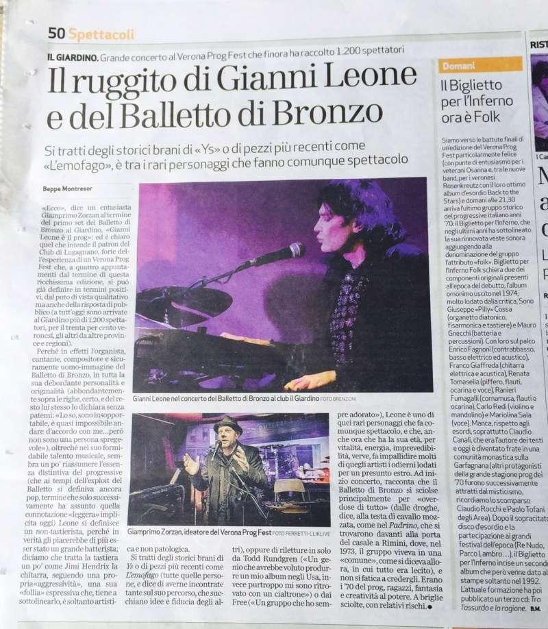 Verona Prog Festival 2015 - Balletto di Bronzo Recens10