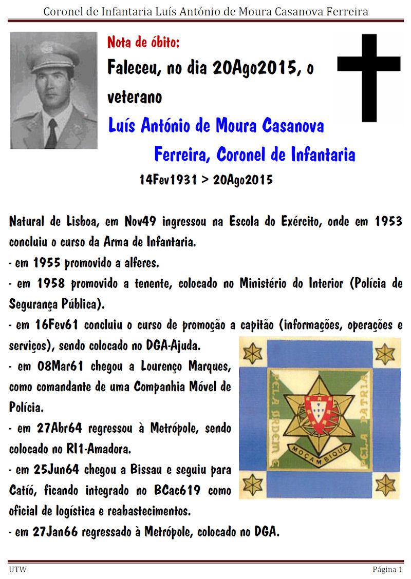 Faleceu o Coronel de Infantaria Luís António de Moura Casanova Ferreira - 20Ago2015 Luisan10