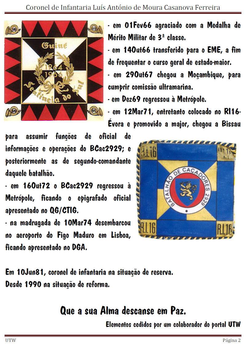 Faleceu o Coronel de Infantaria Luís António de Moura Casanova Ferreira - 20Ago2015 Luisan11