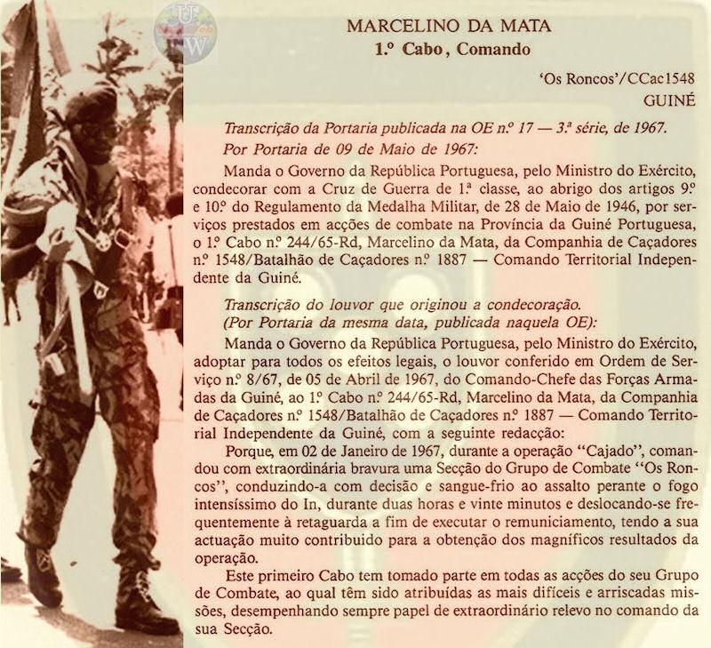 Marcelino da Mata – O dever de ajudar um Herói de Portugal Marcel12